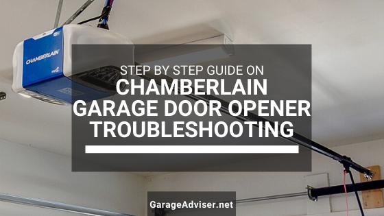 chamberlain garage door opener troubleshooting