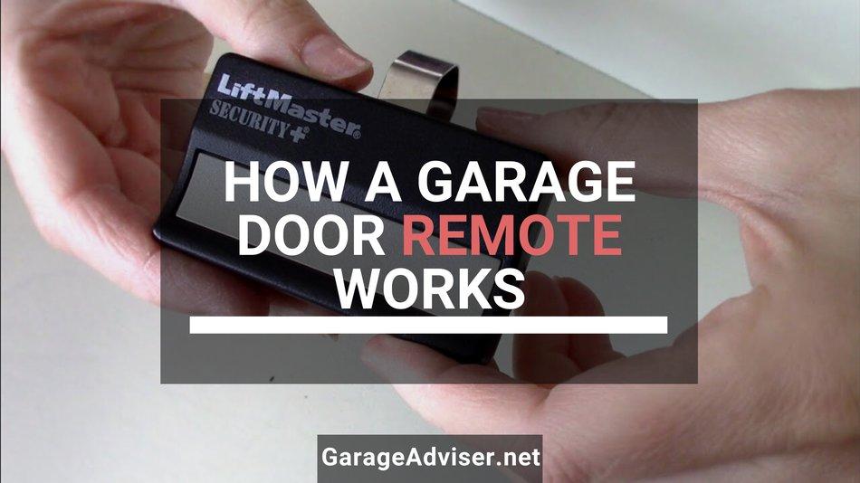 how a garage door remote works